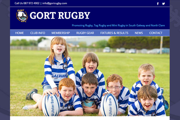 This Rugby club wanted their own web presence, with Facebook integration.