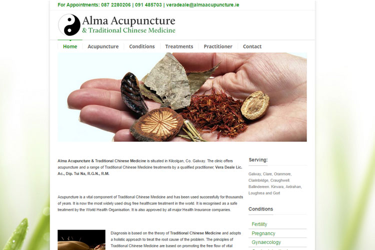 Acupuncture practitioner providing a number of 'alternative' treatments.