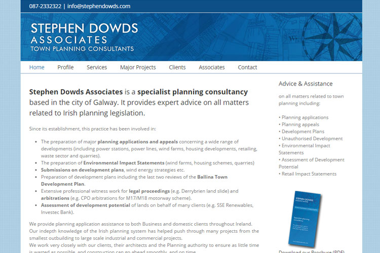 This planning consultancy wanted their website updated to be responsive to mobile devices.